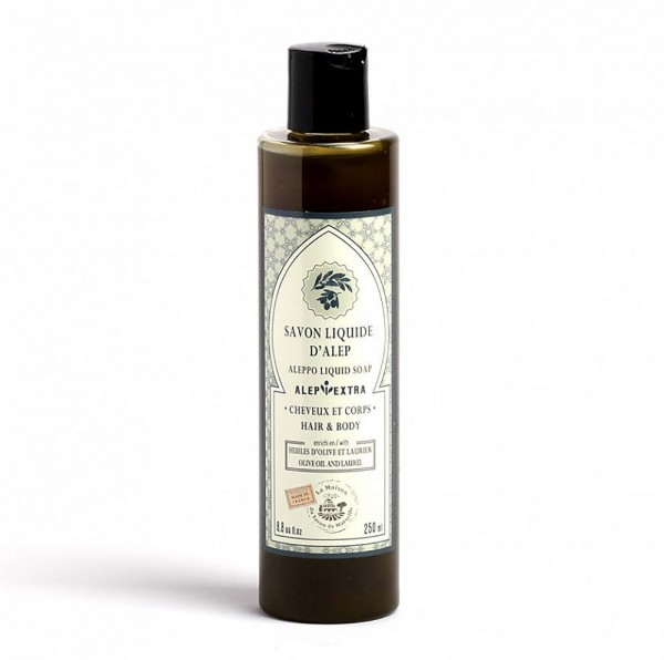 Aleppo Flüssigseife Olivenöl mit Lorbeeröl - Duschgel Shampoo 250 ml