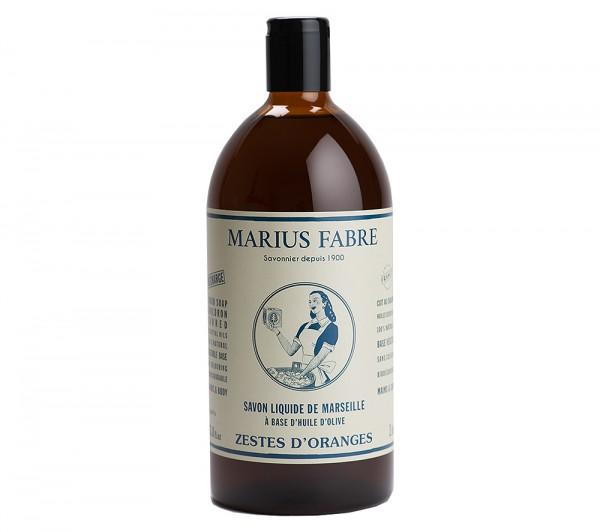 Marius Fabre Flüssigseife Nature Orange Bio-Olivenöl 1L