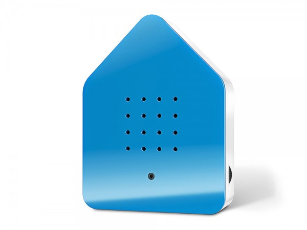Zwitscherbox Classic Blau Vogelgezwitscher mit Bewegungsmelder Vogelstimmen