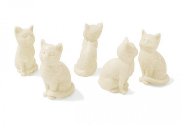 5 x Seife Katze Weiß Mandel (Amande) Kinderseife Tierseife Motivseife 5x25g