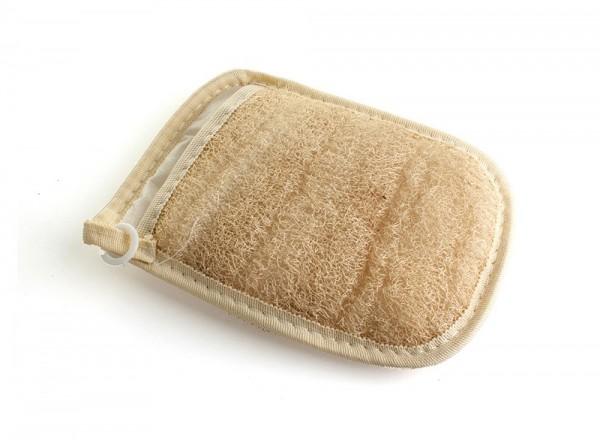 Peeling Handschuh Luffa Handschuh Hammam 2 Seiten Naturschwamm-Faser
