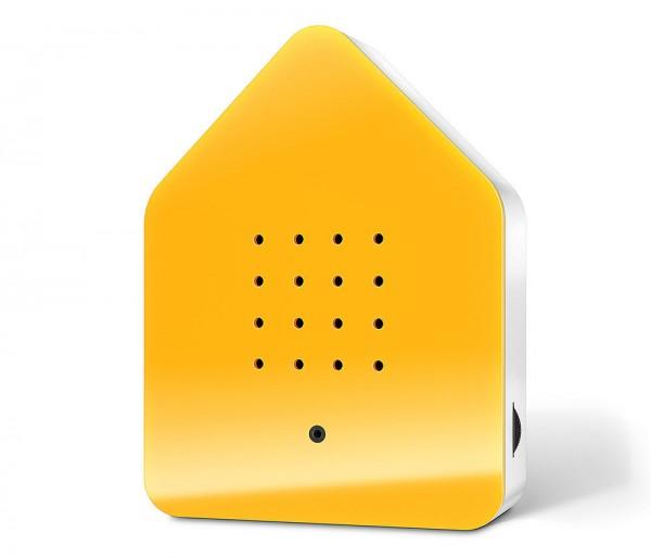 Zwitscherbox Classic Gelb Vogelgezwitscher mit Bewegungsmelder Vogelstimmen