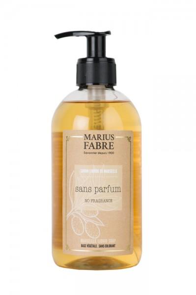 Marius Fabre Flüssigseife Parfümfrei (Sans Parfum) mit Bio-Olivenöl - 400ml