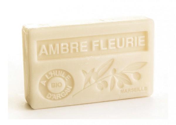 Bio-Arganöl Seife Ambre Fleurie (Blumenduft Amber) - 100g