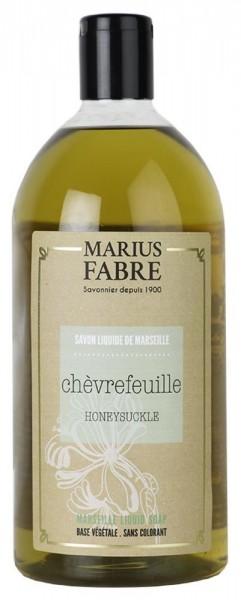 Marius Fabre Flüssigseife Geißblatt (Chèvrefeuille) mit Bio-Olivenöl - 1L