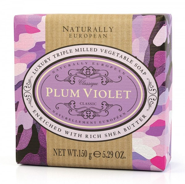 Naturally European Seife Plum Violet 150g