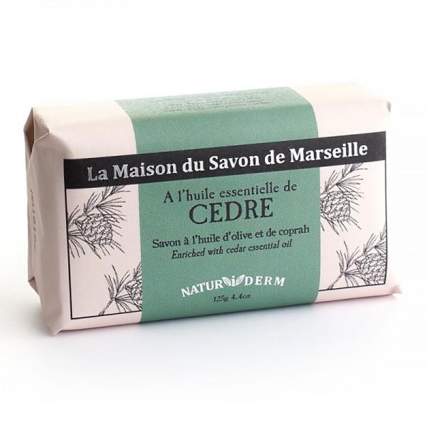 Natürliche Seife Naturiderm Cedre (Zeder) - Ohne EDTA - 125g