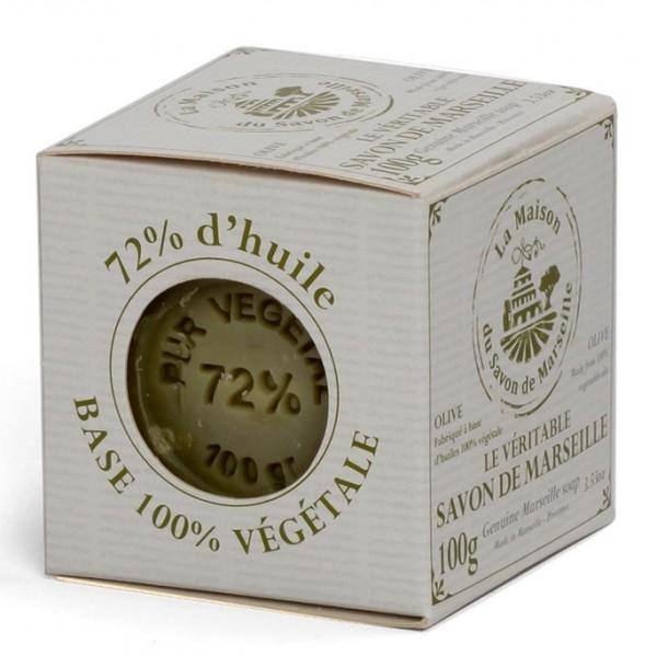 Savon de Marseille Seifenblock 72% Olivenöl 100g in Geschenkbox