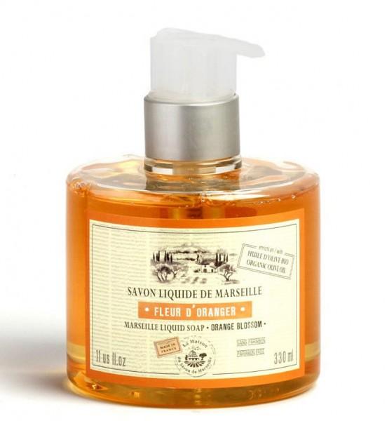 Flüssigseife Fleur d'Oranger (Orangenblüte) mit Bio-Olivenöl 330ml