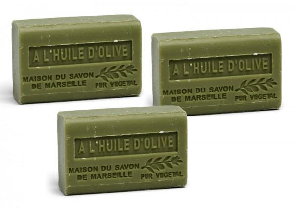 3 x Provence Seife Olivenöl (Huile d'Olive) - Karité a`60g
