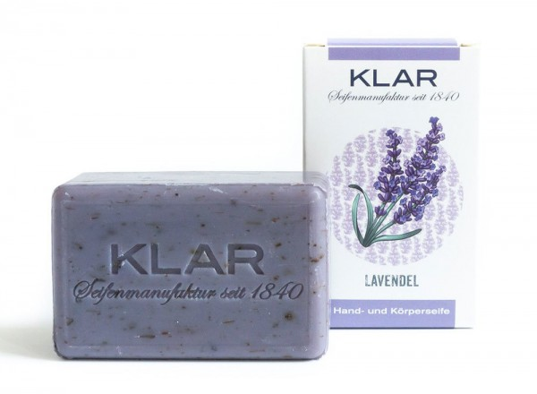 KLAR Seife Lavendel (palmölfrei) 100g